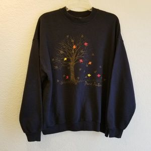 VINTAGE Lee Pullover Crew-neck Autumn Sweatshirt